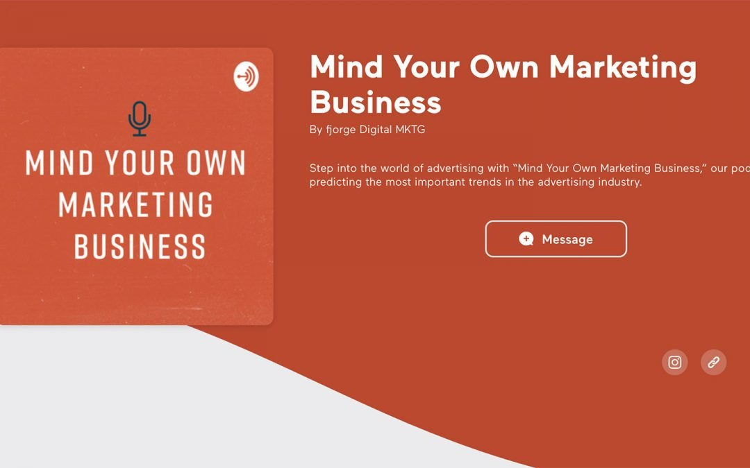 """Peter Dawyot on the Fjorge Digital """"Mind Your Own Marketing Business"""" Podcast"""